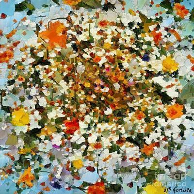 Floral Chaos Art Print by Dragica  Micki Fortuna