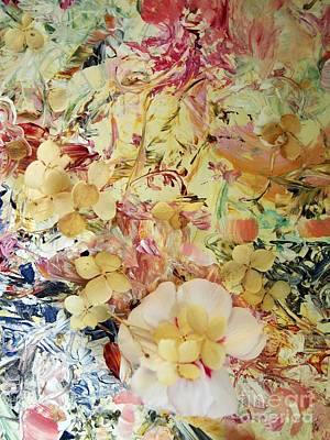 Conversation Mixed Media - Floral Chatter by Nancy Kane Chapman