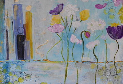 Painting - Floral City by Teresa Tilley