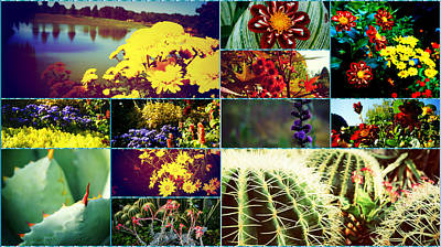 Floral Collage Print by Celestial Images