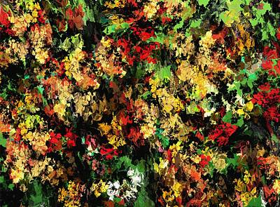 Digital Art - Floral Color Riot by David Lane