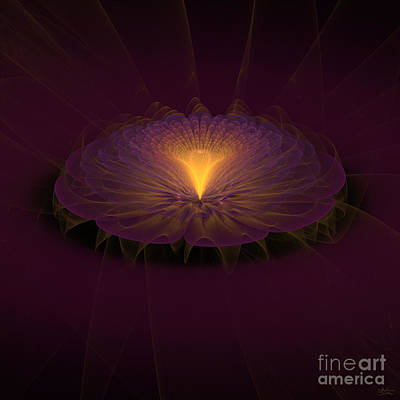 Art Print featuring the digital art Floral Creation by Arlene Sundby