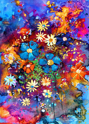 Daisies Drawing - Floral Dance Fantasy by Svetlana Novikova