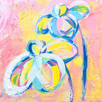 Painting - Abstract Flowers Silhouette No 15 by Patricia Awapara