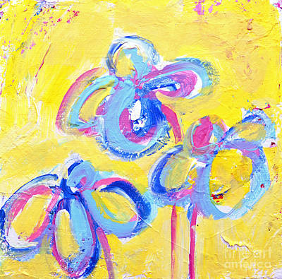 Painting - Abstract Flowers Silhouette No 13 by Patricia Awapara