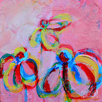 Painting - Abstract Flowers Silhouette No 11 by Patricia Awapara