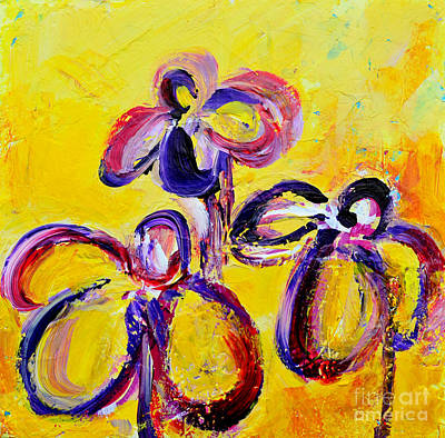 Colore Painting - Abstract Flowers Silhouette No 9 by Patricia Awapara