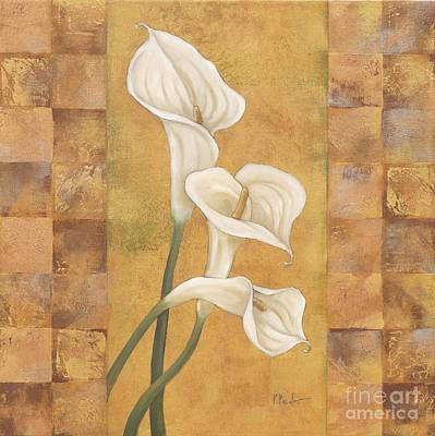 White Flowers Painting - Floral Del Rey I by Paul Brent