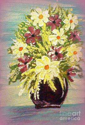 Painting - Floral Delight Acrylic Painting by Bobbee Rickard