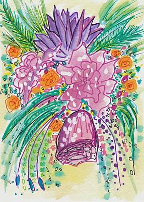 Boho Painting - Floral Delight by Rosalina Bojadschijew