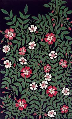 Textile Art Painting - Floral Design by Owen Jones