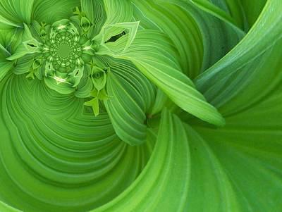 Digital Art - Floral Digi Manip 10 by Gene Cyr