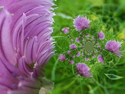 Digital Art - Floral Digi Manip 18 by Gene Cyr