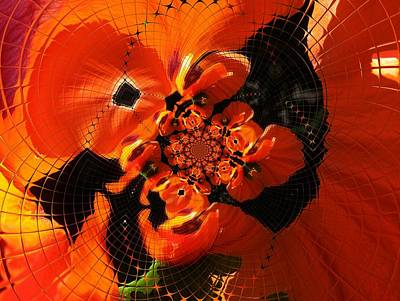 Digital Art - Floral Digi Manip 20 by Gene Cyr