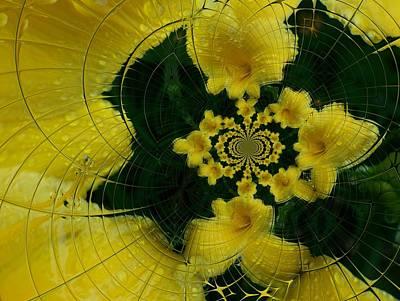 Digital Art - Floral Digi Manip 31 by Gene Cyr