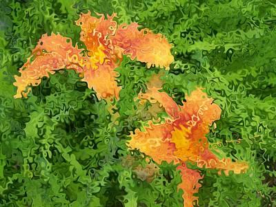 Digital Art - Floral Digi Manip 33 by Gene Cyr