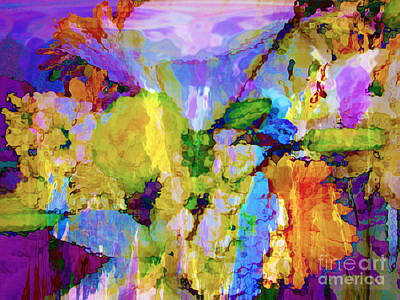 Floral Dreamscape Art Print by Ann Johndro-Collins