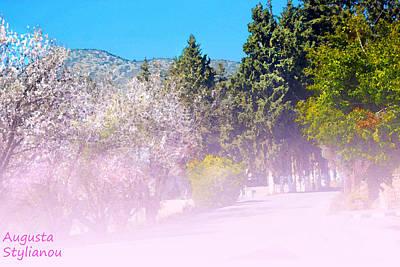 Cyprus Digital Art - Floral Entrance by Augusta Stylianou