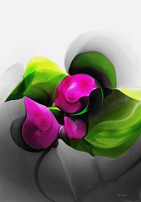 Floral Expression 111213 Art Print by David Lane