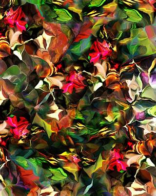 Print featuring the digital art Floral Expression 121914 by David Lane