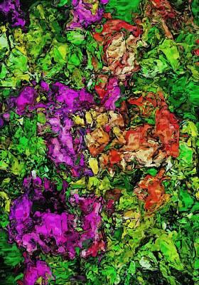 Digital Art - Floral Fantasy 042714 by David Lane