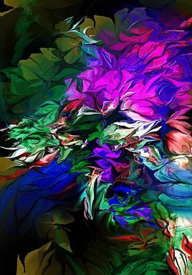 Digital Art - Floral Fantasy 091713 by David Lane