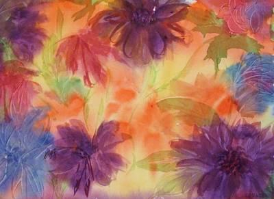 Painting - Floral Fantasy by Ellen Levinson