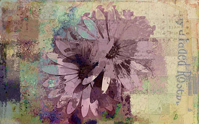 Pink Flowers Digital Art - Floral Fiesta - S23at08aa by Variance Collections