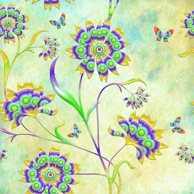 Digital Art - Floral Flirty And Fun  by Liane Wright