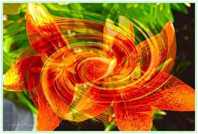 Floral Flow Art Print by Sonali Gangane