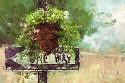 Painting - Floral - Flowers - One Way by Liane Wright