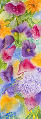 Floral Glory Dos Art Print by Rhonda Leonard