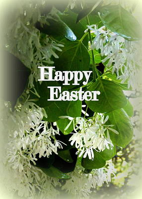Photograph - Floral Happy Easter Greeting Card by Carla Parris