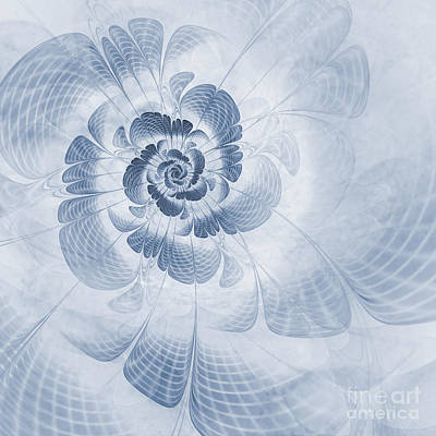 Abstract Digital Digital Art - Floral Impression Cyanotype by John Edwards