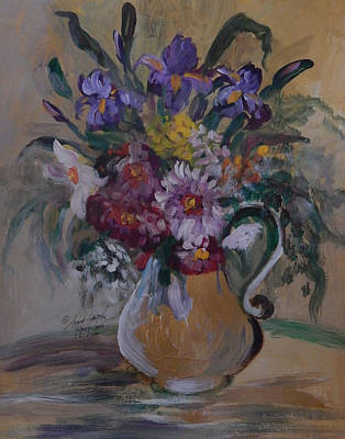 James Earl Ray Painting - Floral In A Vase by Anna Sandhu Ray