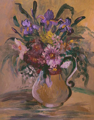 James Earl Ray Painting - Floral In A Vase II by Anna Sandhu Ray
