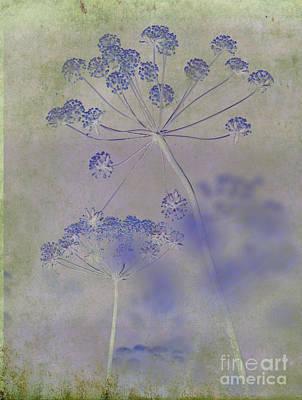 Floral In Blue Original by Sharon Elliott