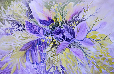 Painting - Floral In Mauve by Joanne Smoley