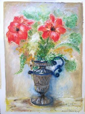 Floral In Urn Art Print by Barbara Anna Knauf