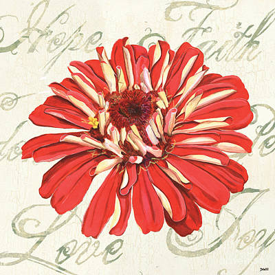 Dahlia Wall Art - Painting - Floral Inspiration 1 by Debbie DeWitt
