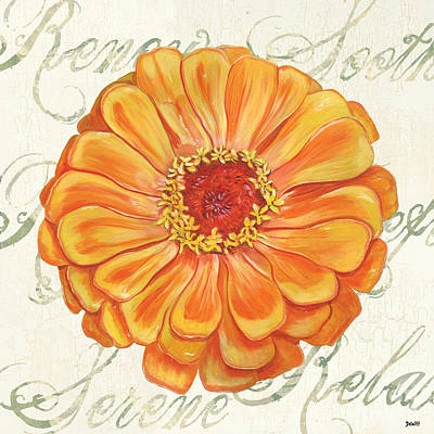 Dahlia Wall Art - Painting - Floral Inspiration 2 by Debbie DeWitt