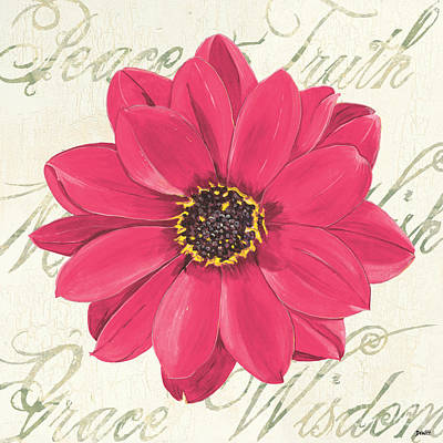 Dahlia Wall Art - Painting - Floral Inspiration 3 by Debbie DeWitt
