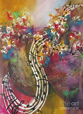 Painting - Floral Notes by Carol Losinski Naylor