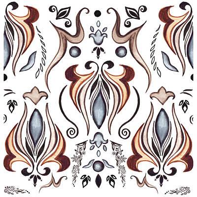 Painting - Floral Pattern II by Irina Sztukowski