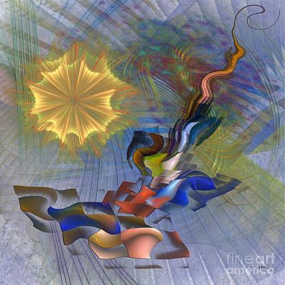 Digital Art - Floral Predator - Square Version by John Beck