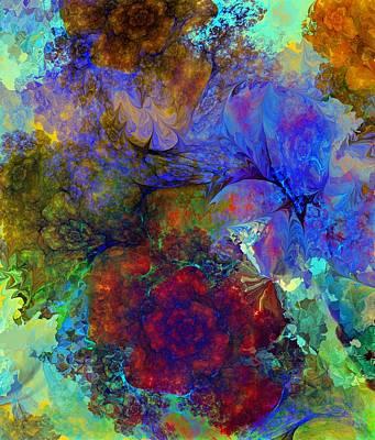 Digital Art - Floral Psychedelic by David Lane