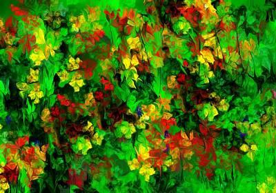 Digital Art - Floral Riot by David Lane