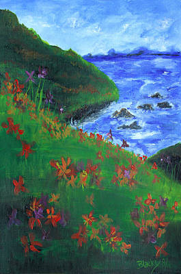 Painting - Floral Sea by Donna Blackhall