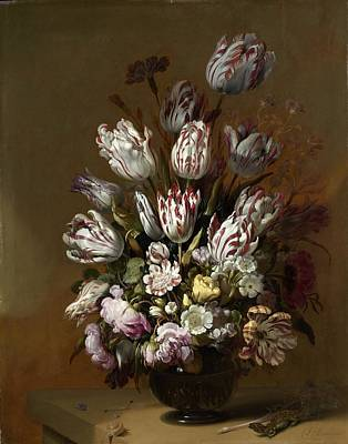 Painting - Floral Still Life by Hans Bollongier