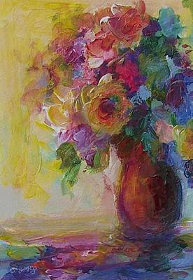 Painting - Floral Still Life by Mary Wolf